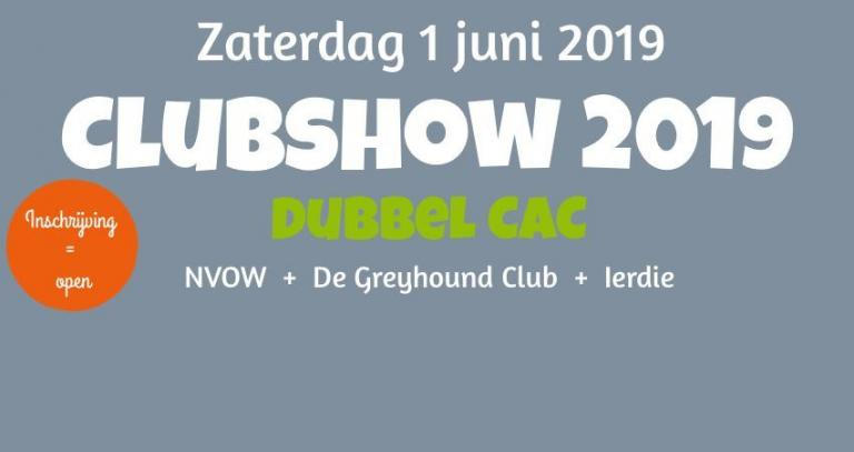 Inschrijving Clubshow is geopend